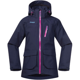 """Bergans Youth Folven Jacket Navy/Pink Rose/Glacier"""